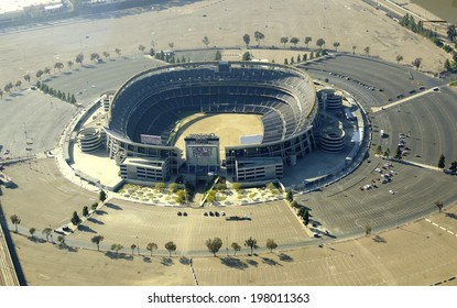 SAN DIEGO,USA - FEBRUARY 25 2014: Aerial view of Qualcomm Stadium, in Southern California, United States America. A stadium used for concerts, the super bowl, football, baseball games and other sports