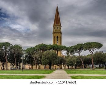San Donato cathedral in Arezzo, Tuscany Italy