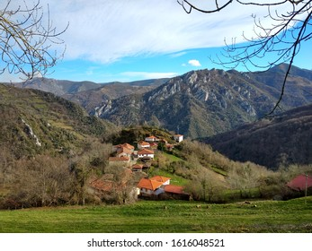 San Esteban village, Belmonte municipality, Asturias, Spain