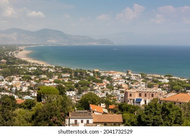 San Felice Circeo, Italy - august 19 2021 - fantastic view from the town of San Felice Circeo, Italy.