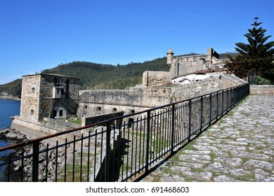 San Felipe Castle, Ferrol, A coruna, Spain, Military fortress that, next to the castle of the Palm, on the opposite side of the Ria, closed and protected the entrance of ships in the port of Ferrol,