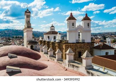 San Felipe Neri monastery from La Merced church in Sucre, Bolivia