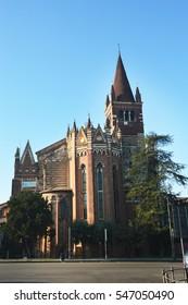 San Fermo church, Romanesque style in Verona, Italy