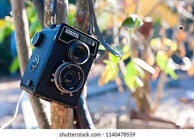 San Fernando, VI Región, Chile.  May 22 of 2018. Lomo Lubitel Lomographic camera.