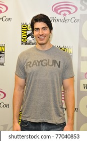 """SAN FRANCISCO - APRIL 2:  Brandon Routh poses for the collected press during the press event for """"Dylan Dog"""" at the Wonder-Con in the Moscone Center on April 2, 2011 in San Francisco, California"""