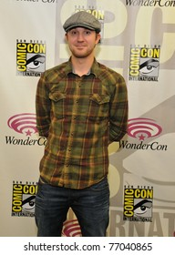 """SAN FRANCISCO - APRIL 2:  Sam Huntington poses for the collected press during the press event for """"Dylan Dog"""" at the Wonder Con in the Moscone Center on April 2, 2011 in San Francisco, California."""