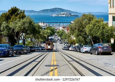 SAN FRANCISCO - APRIL 23, 2018: Hyde street in San Francisco, California, USA