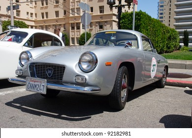 SAN FRANCISCO - APRIL 24: A 1962 Lancia Appia GTE Zagato is on display during the 2011 California Mille show in Nob Hill in San Francisco on April 24, 2011