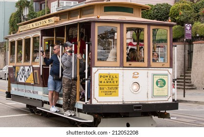 SAN FRANCISCO - AUGUST 7, 2014: A cable car in San Francisco, CA.