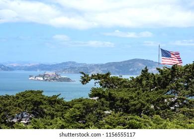 San Francisco bay and Alcatraz island. California. USA
