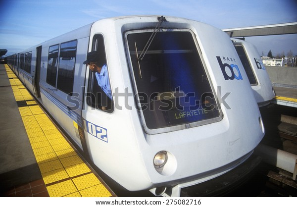 The San Francisco Bay Area Rapid Transit train, commonly referred to as BART, carries commuters to its next destination