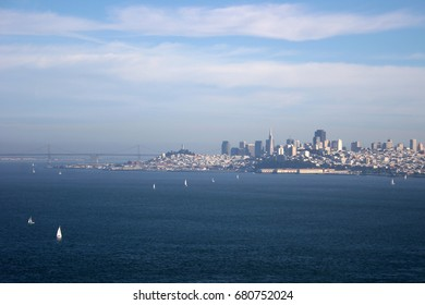 San Francisco, CA; Downtown from the Golden Gate Bridge