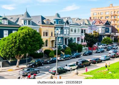 San Francisco, CA - February 15: Alamo Square, by the Painted Ladies, San Francisco, California, USA.