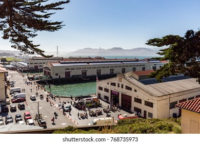 San Francisco, CA - Jul. 17, 2017: Historic Fort Mason, once known as San Francisco Port of Embarkation, US Army, is a former United States Army post in San Francisco, CA.