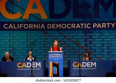 San Francisco, CA - June 01, 2019: California State Assembly Member Monique Limon, speaking at the Democratic National Convention at Moscone center in San Francisco, CA