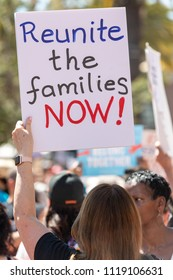 SAN FRANCISCO, CA - JUNE 23, 2018: The Families Belong Together rally opposed the cruel, inhumane and illegal separation of children from their parents guardians along the U.S. border with Mexico.