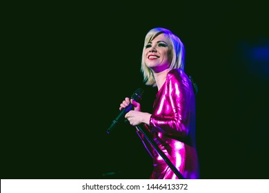 SAN FRANCISCO, CA – JUNE 28, 2019: Carly Rae Jepsen plays at Bill Graham Civic Auditorium in San Francisco for her Dedicated tour.