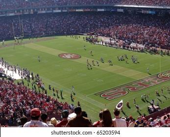 SAN FRANCISCO, CA - NOVEMBER 14: St.Louis Rams vs. San Francisco 49ers: Rams player running and dodging 49er players during kickoff return play at Candlestick Stadium San Francisco November 14 2010.