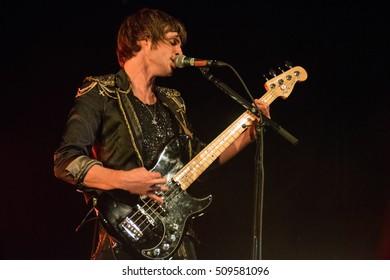 SAN FRANCISCO, CA - November 2, 2016: The Struts in concert at The Fillmore in San Francisco, CA