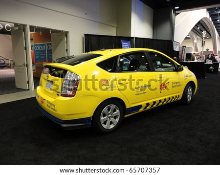 SAN FRANCISCO, CA   NOVEMBER 20: AAA Emergency Road Service Toyota Prius  Automobile Is