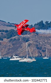 SAN FRANCISCO, CA - OCT 8: Sean D. Tucker demonstrates precision of flying and the highest level of pilot skills during during 2011 San Francisco Fleet Week on October 8, 2011 in San Francisco, CA.