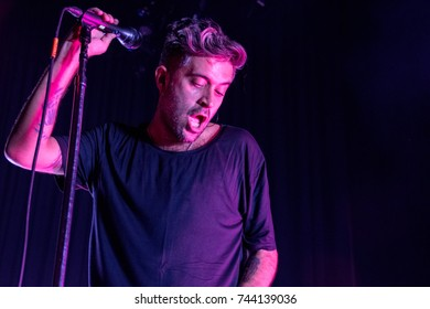 SAN FRANCISCO, CA - OCTOBER 27, 2017: Glassjaw in concert at The Masonic in San Francisco, CA