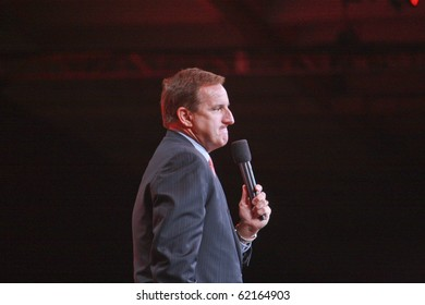 SAN FRANCISCO, CA, SEP 20 - Oracle president Mark Hurd makes speech at Oracle OpenWorld conference in Moscone center on Sep 20, 2010 in San Francisco. It was his first public event since shameful firing from HP's CEO