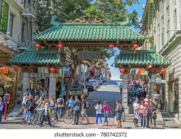 San Francisco, CA USA - 08/07/2013 - San Francisco, CA USA - San Francisco Chinatown Entrance Gate