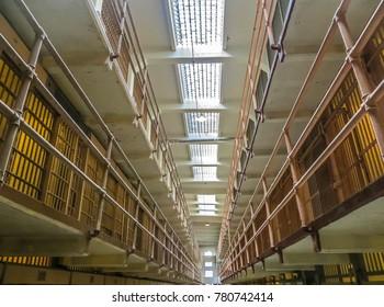 San Francisco, CA USA - 08/07/2013 - San Francisco, CA USA - Alcatraz Prison General Population Cells