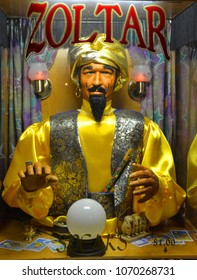 SAN FRANCISCO CA USA APRIL 16 2015: Zoltar may refer to. Zoltar (fortune telling robot), robotic character in a fortune telling machine in the 1988 film Big