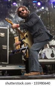 San Francisco, CA USA - August 11, 2013: Taylor Goldsmith of Dawes performing at the 2013 Outside Lands music festival in Golden Gate Park.
