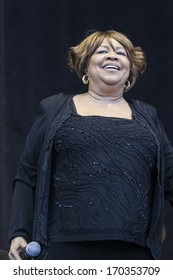 San Francisco, CA USA - August 14, 2011: Mavis Staples performing live, on stage at the 2011 Outside Lands music festival in Golden Gate Park.