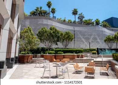 San Francisco, CA / USA - June 12 2018: city roof garden in downtown, by the new Transbay terminal, San Francisco, California