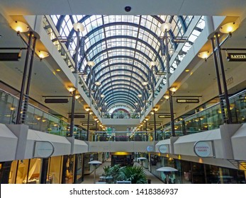 San Francisco, CA, USA - March 6 2010: Crocker Galleria is an upscale shopping mall connected to 1 Montgomery Tower downtown.