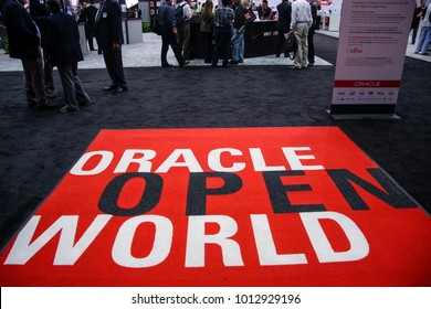 SAN FRANCISCO, CA, USA - NOV 13, 2007: Entrance to exhibition hall at Oracle OpenWorld conference in Moscone center on Nov 13, 2007 in San Francisco, CA