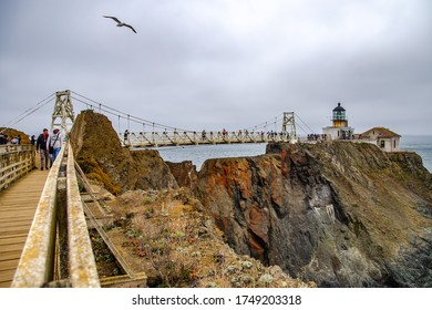 San Francisco, CA, USA - October 6, 2019: Point Bonita lighthouse in San Francisco, California