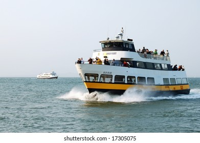 San Francisco, California - 24 July 2008: Tour boats are an enjoyable way to see and visit various points of interest on San Francisco Bay.