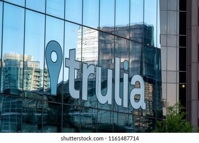 San Francisco, California - August 18, 2018: Trulia headquartered in downtown San Francisco. Trulia is an online residential real estate site.