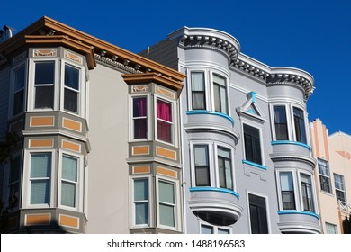 San Francisco, California - beautiful old architecture in Cow Hollow area.