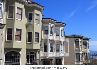 San Francisco, California - beautiful old architecture in Nob Hill area.