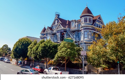 San Francisco California Colorful Victorian Style House