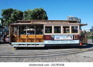 San Francisco, California - June 19 2011: Cable Car System is a unique transportation of San Francisco.