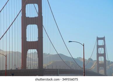 San Francisco, California - June 19 2011: Golden Gate Bridge is the 4.8 km long bridge channel between San Francisco Bay and the Pacific Ocean.