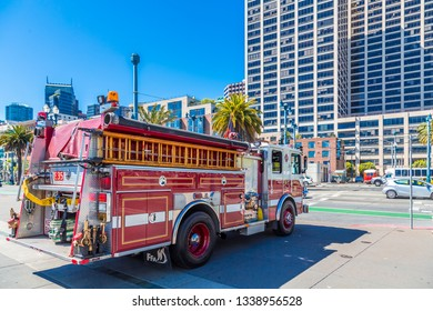 SAN FRANCISCO, CALIFORNIA - May 15, 2016:  San Francisco is the 13th-most populous city in the U.S. and is known for its cool summers, fog, rolling hills, eclectic mix of architecture, and landmarks