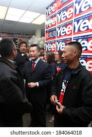 SAN FRANCISCO, CALIFORNIA -Â?Â? MAY 7, 2011 -Â?Â? California State Sen. Leland Yee kicks of his campaign for San Francisco mayor in 2011. Yee has been indicted by federal agents on arms trafficking charges.