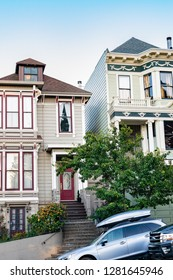 San Francisco, California - October 5, 2017: Painted Ladies from the sitcom Full House