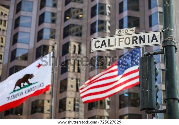 San Francisco, California - September 17, 2017: California Street Sign