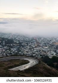San Francisco California Under Fog