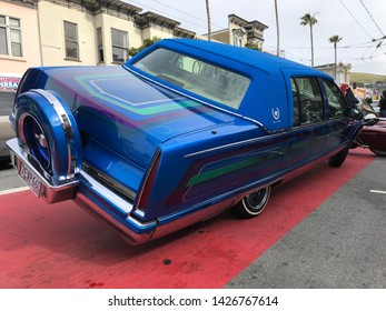 San Francisco, California / United States - 05-05-2019: Cinco De Mayo in Mission , Annual lowrider car show in the Mission with 100+ of SF's most awesome cars