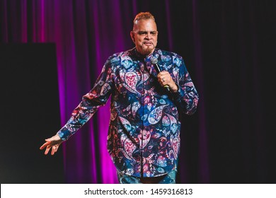San Francisco, California / United States - June 21 2019 - Comedian Sinbad performs at Clusterfest